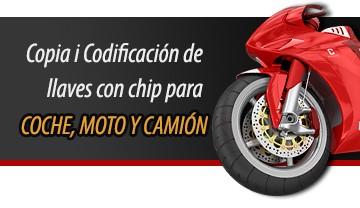 Copia y codificacion de llaves de coche y moto